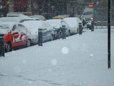 La nieve puede alcanzar hasta 25 centímetros de espesor