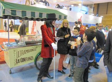 El carrito dulce de Huesca recorre Fitur