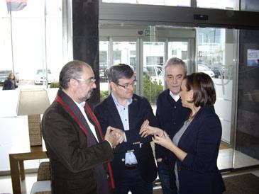 El secretario general del PSOE Aragón ha participado en una jornada sobre despoblación en Teruel
