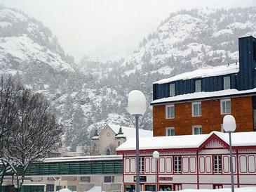 El Balneario de Panticosa, en una imagen de la nevada que lo incomunicó el año pasado