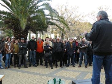 Diputados de CHA e IU han participado en la protesta