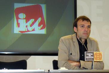 Pablo Muñoz es concejal de IU en el Ayuntamiento de Zaragoza