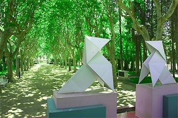 Imagen del Parque Miguel Servet. Foto: www.huescaturismo.com