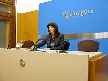 La consejera de Servicios Públicos y Movilidad, Carmen Dueso, durante la rueda de prensa
