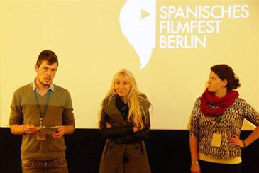 Vicky Calavia (centro) en el Spanisches Filmfest Berlín de este año