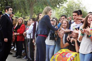 La Princesa de Asturias en su última visita a Huesca