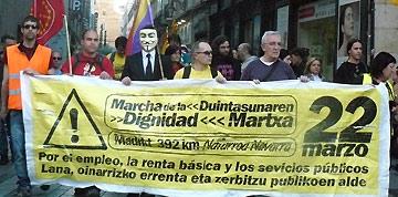 La marcha partirá este domingo hacia Madrid