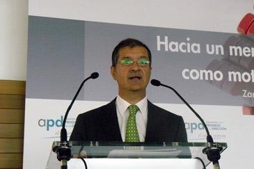 El presidente de APD en Aragón, Javier Pardo