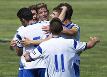 El filial blanquillo superó a los madrileños. Foto: web Real Zaragoza