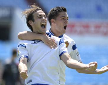 Adán Pérez fue el autor de dos goles. Foto: web Real Zaragoza