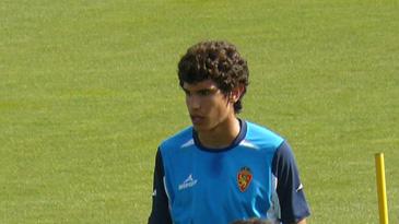 Jesús Vallejo durante un entrenamiento del primer equipo