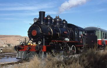 Fotografía de la locomotora de Ángel González Mir