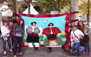 Urban Knitting Zaragoza realiza intervenciones artísticas con asiduidad. Foto: web Urban Knitting