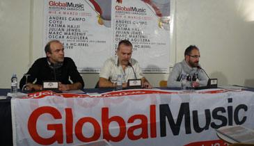 De izquierda a derecha, Dany BPM, Luis Aguirre y Pedro Aguirre presentando el evento este jueves