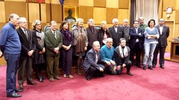 Integrantes de la nueva junta directiva de la Asociación de Exconcejales Democráticos de Zaragoza
