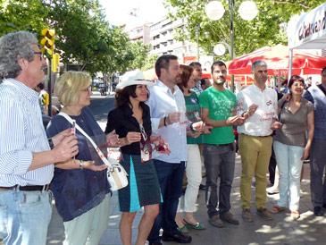 CHA ha continuado su campaña en la plaza de las Canteras de Zaragoza