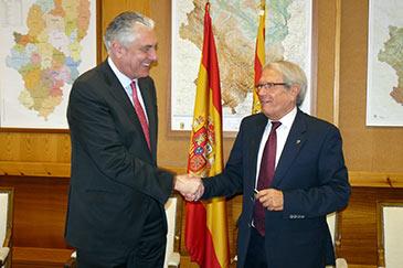 Pérez, a la derecha, en imagen de archivo