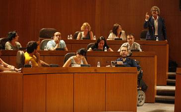 CHA e IU tendrán que convivir en el Grupo Mixto. Foto: Cortes de Aragón