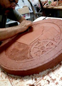 Imagen de la fabricación del molde de la tapa