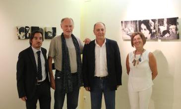 El director General de Cultura, Ignacio Escuín, junto con representantes del festival