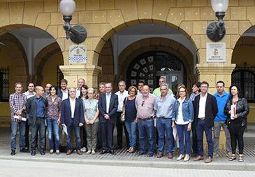 La reunión ha sido en el Ayuntamiento de Fraga