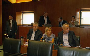 Imagen de la bancada socialista en la Comisión Institucional