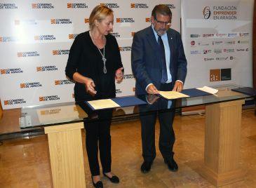 Gastón y Mayoral han subrayado la buena relación entre DGA y UZ
