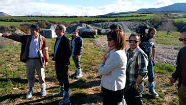 La visita ha recorrido los vertederos de Sardas y Bailín