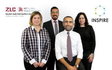 De izquierda a derecha.- Teresa de la Cruz, David Hidalgo, Çagri Gürbüz y Carolina Ciprés, grupo de investigación