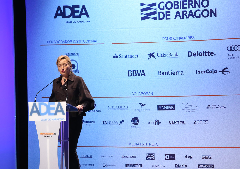 La consejera de Economía, Marta Gastón, ha inaugurado la VIII Convención