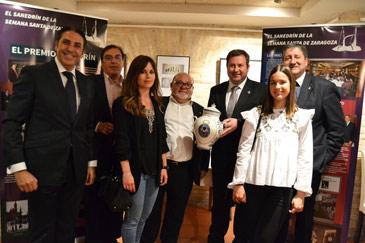 De izquierda a derecha.- Vicente Gracia, Luis Navarro, María Acón, Jesús Carreras, Ignacio Giménez, Teresa García-Belenguer y Arturo Almuzara