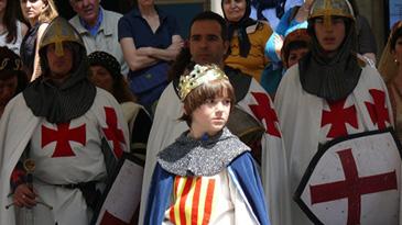 El niño rey Jaime I es el protagonista de los homenajes