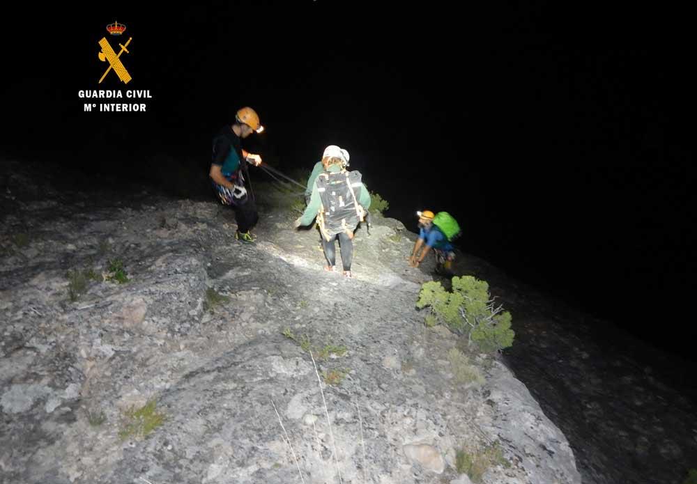 La Guardia Civil rescató a 13 personas en agosto en el Barranco del Vero porque uno estaba lesionado y no podían regresar