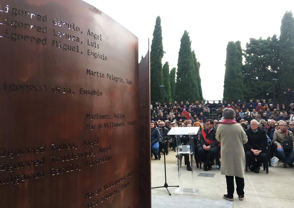 El acto ha tenido lugar el cementerio municipal de Zuera