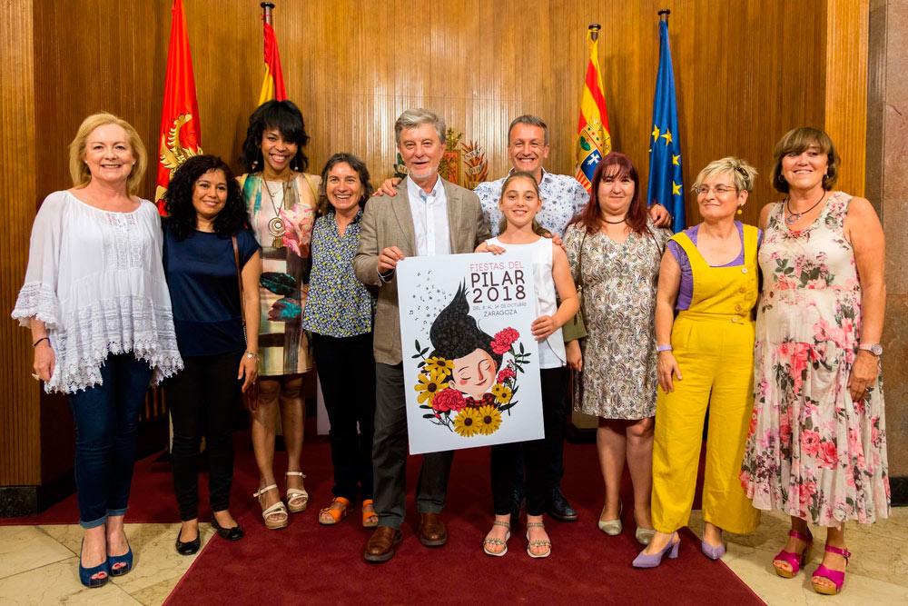 El Ayuntamiento de Zaragoza tomó la pionera decisión de que siete mujeres de distintos gremios y sectores sean las pregoneras de las Fiestas del Pilar