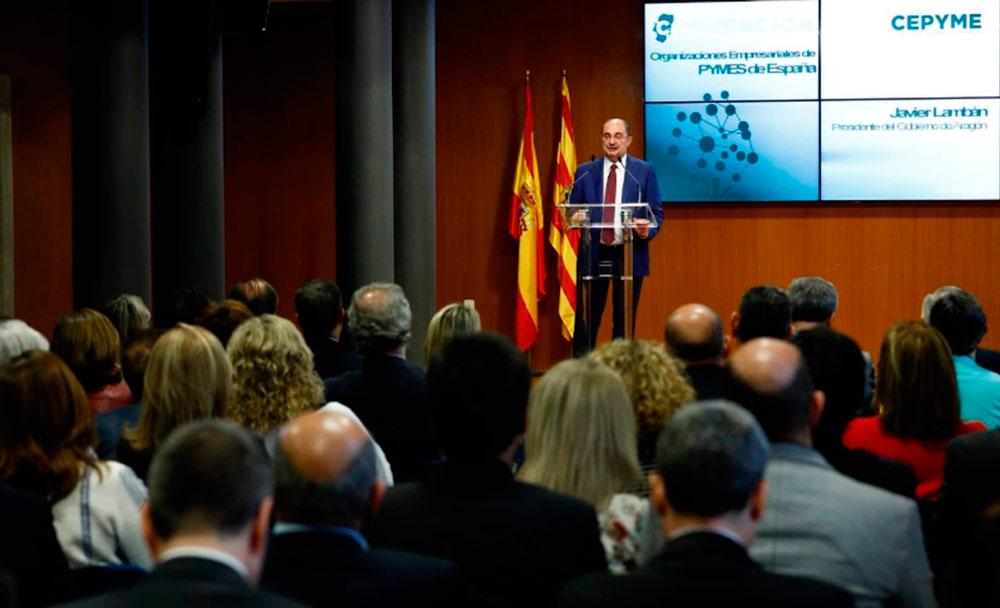 El presidente de Aragón fue el encargado de clausurar la convención