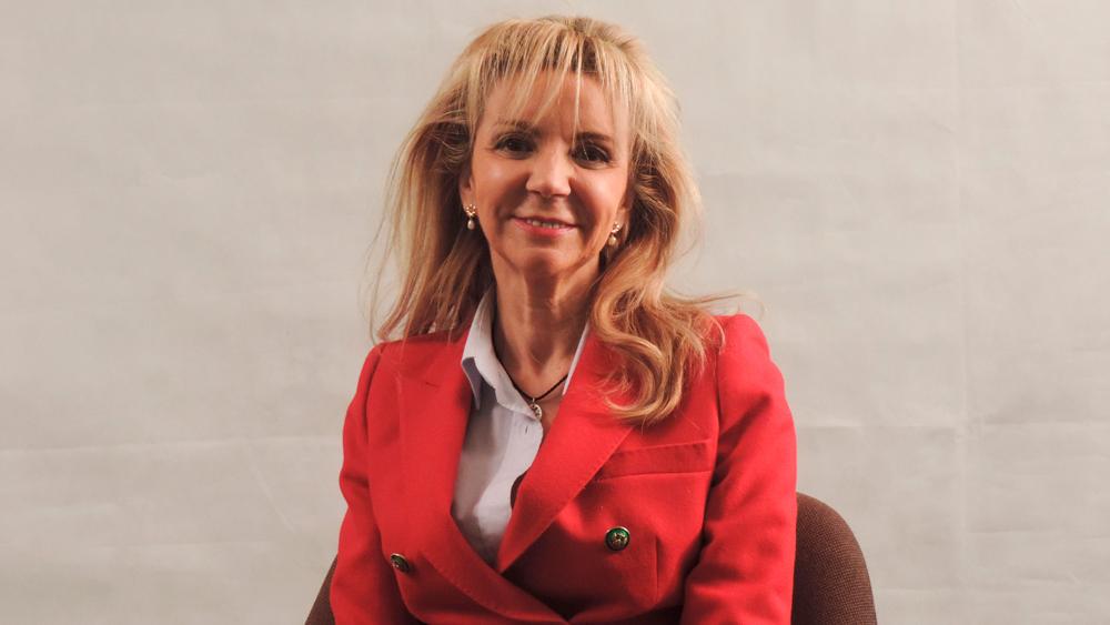 Sara Dobarro, en un momento de la entrevista
