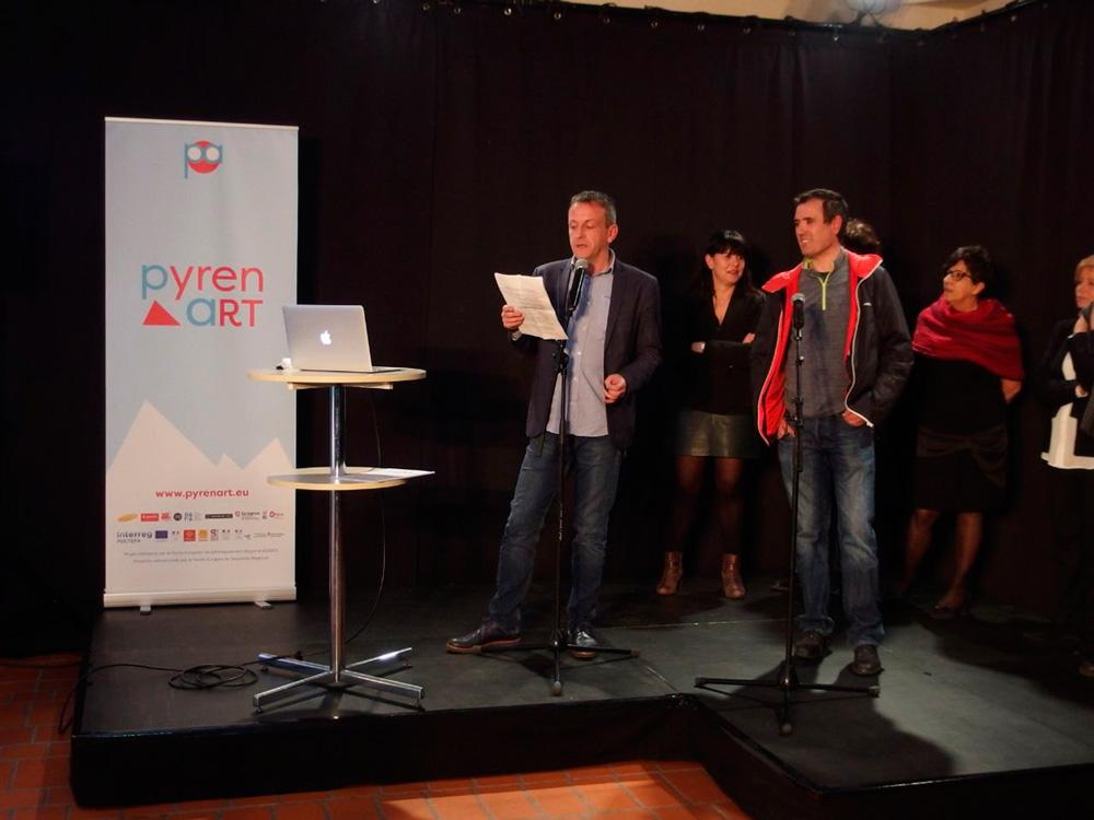 El consejero de Cultura, Fernando Rivarés, acudió a Foix (Ariège) para presentar el proyecto