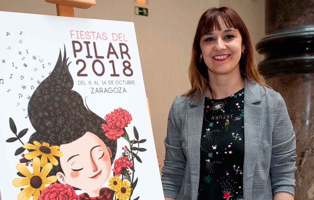 La ganadora Mamen Marcén destaca que su cartel reivindica el papel de las mujeres