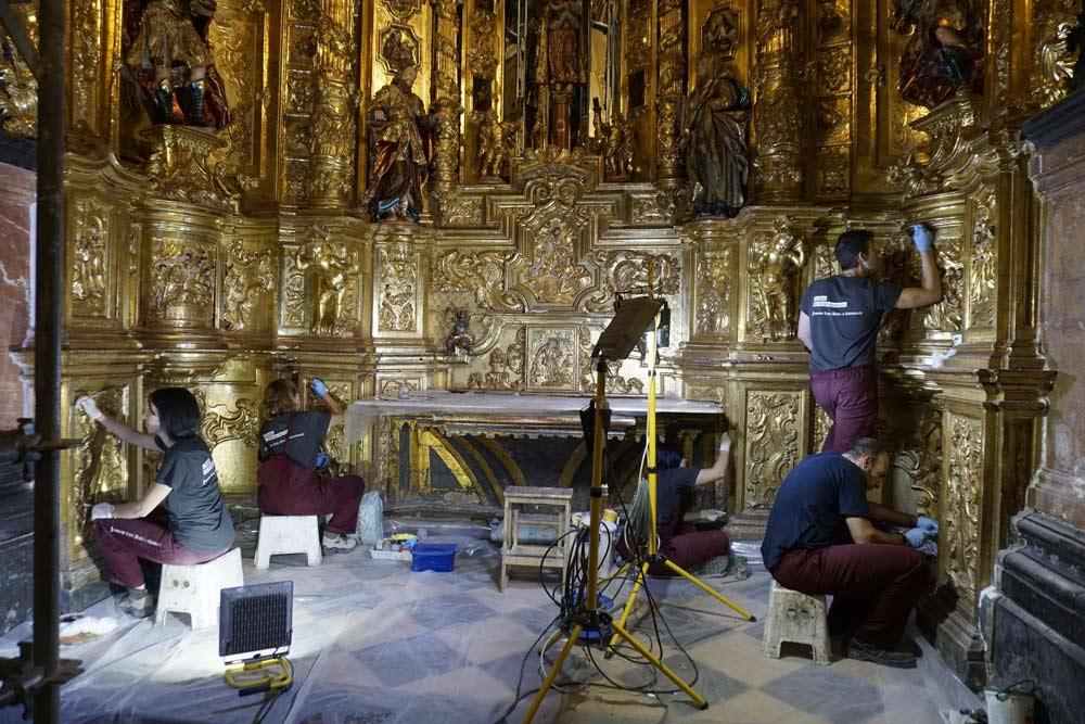 Imagen de una de las restauraciones de la capilla del Pilar de la Catedral de Albarracín