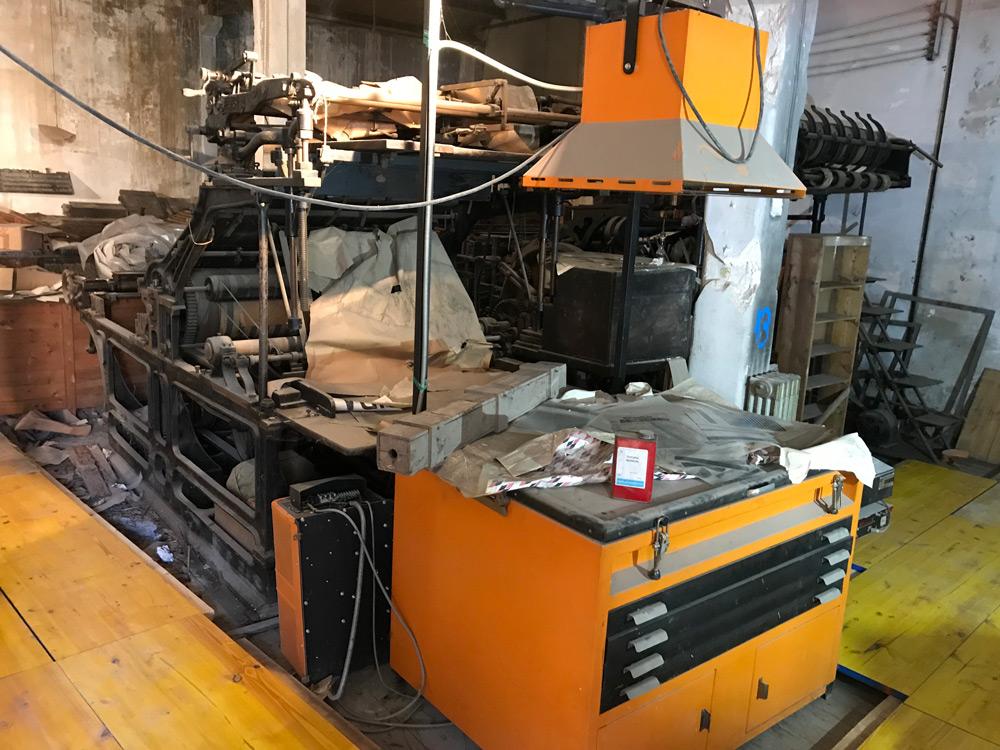Las instalaciones guarda maquinaria antigua en buen estado de conservación