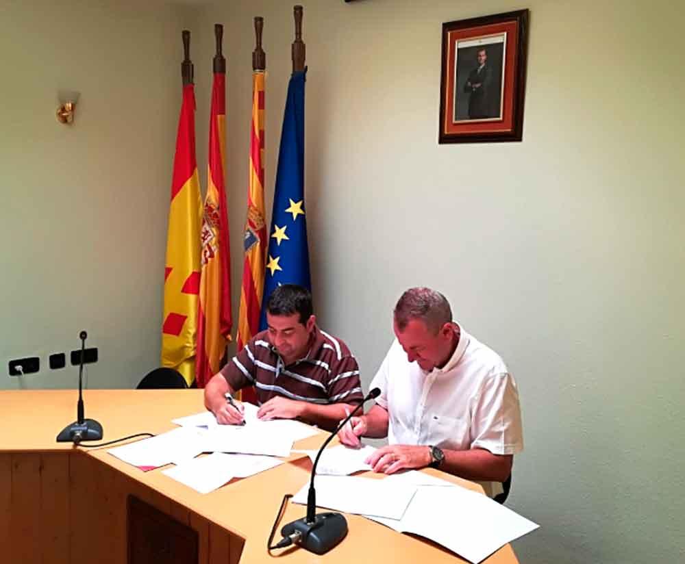 El Ayuntamiento de Fayón ha firmado el convenio este martes