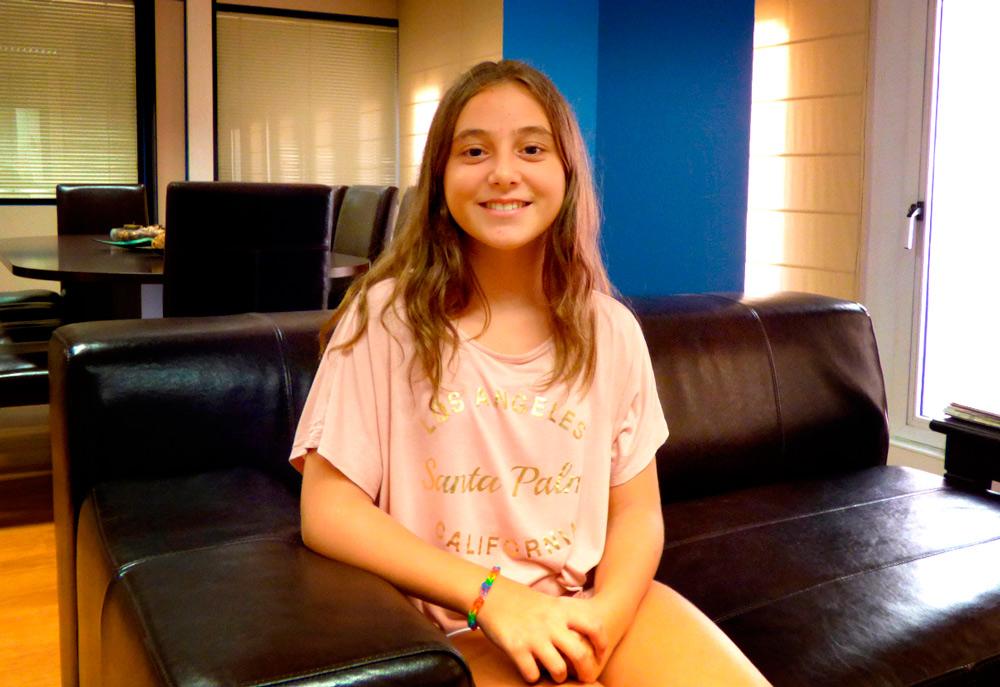 Justina Iordachescu es la actual alcaldesa infantil de Zaragoza