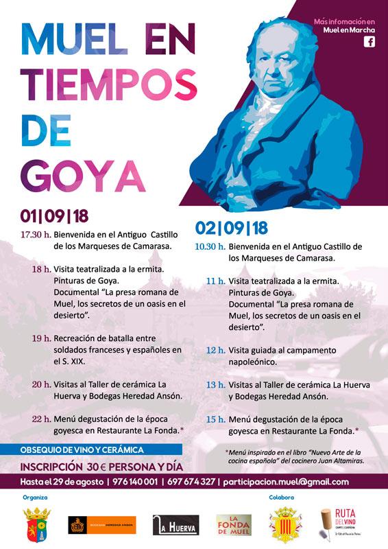 """Cartel de las jornadas """"Muel en tiempos de Goya"""""""