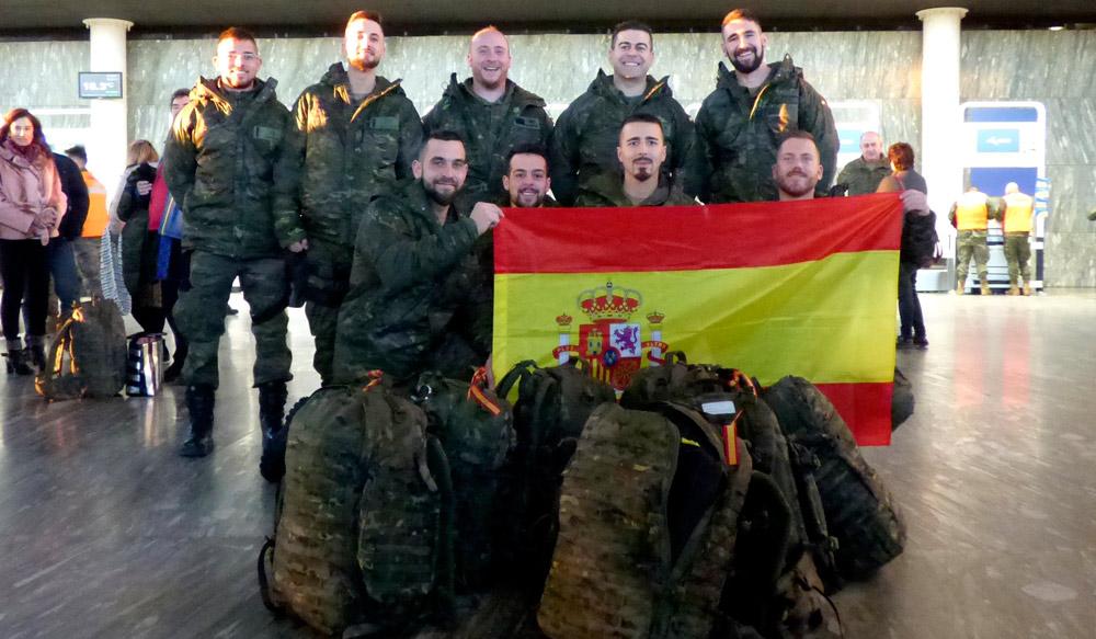 La mayoría son militares de Zaragoza y Gerona