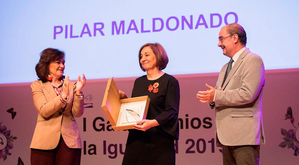 Pilar Maldonado recibe el premio a la trayectoria personal