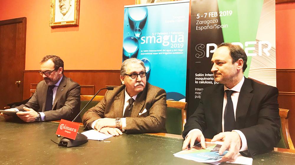 """El presidente de Feria Zaragoza, Manuel Teruel, ha calificado el nacimiento de Spaper como el """"complemento directo"""" para Smagua"""