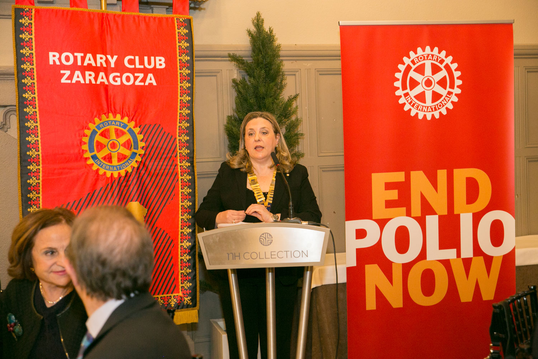 La presidenta de Rotary Club Zaragoza, Mercedes Muro