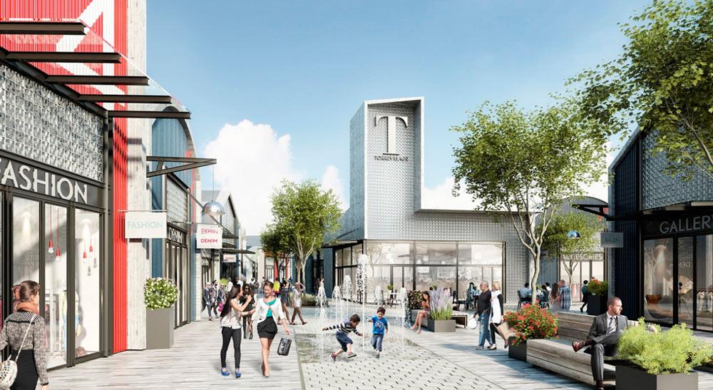 Recreación del complejo comercial Torre Village