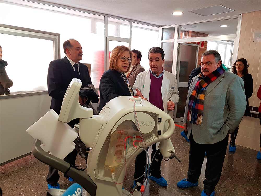 La consejera Ventura ha visitado las instalaciones del Hospital